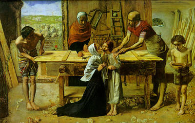 The Houses Digital Art - Christ In The House Of His Parents by John Everett Millais
