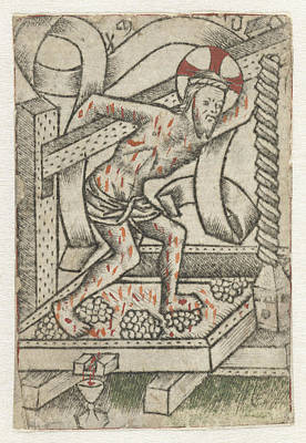 Christ In The Winepress, Meester Van Het Martyrium Der Art Print by Artokoloro