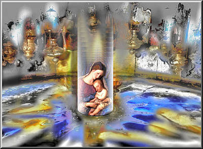 Digital Art - Christ Is Born 2009 by Glenn Bautista
