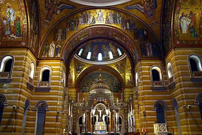 Pentecost Photograph - Christ Is Risen - St Louis Basilica by Thia Stover
