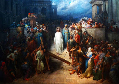 Painting - Christ Leaving The Courtroom by Celestial Images