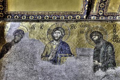Byzantine Photograph - Christ Mosaic by Emily Kay