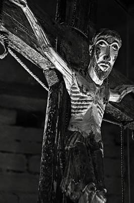 Photograph - Christ Of Salardu - Bw by RicardMN Photography