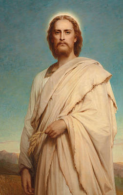 Christ Of The Cornfield Art Print by Thomas-Francis Dicksee
