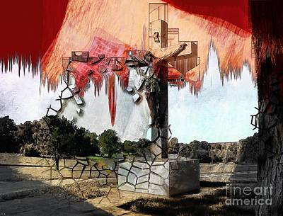 Religious Jesus On Cross Photograph - Christ On The Cross by Liane Wright
