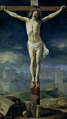Jerusalem Painting - Christ On The Cross by Philippe de Champaigne