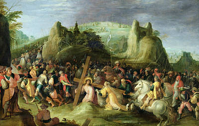 Christ On Cross Painting - Christ On The Road To Calvary by Frans II the Younger Francken