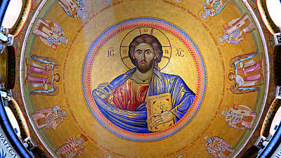 Byzantine Photograph - Christ Pantocrator -- No.4 by Stephen Stookey