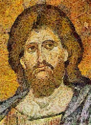 Christ Pantocrator From Monreale Art Print