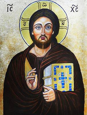 Byzantin Painting - Christ Pantocrator by Ion vincent DAnu