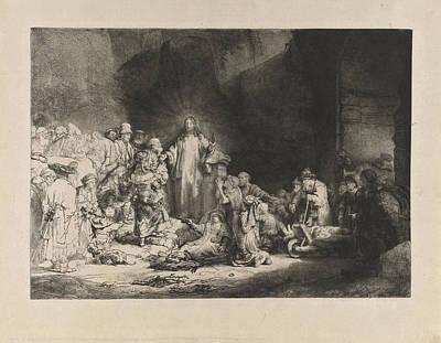 Christ Preaching Hundred Guilder Print Art Print by Quint Lox