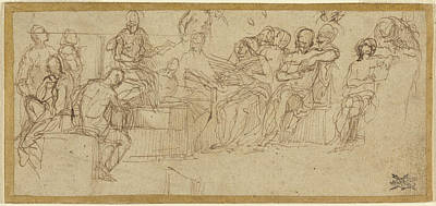 Paolo Caliari Veronese Drawing - Christ Preaching In The Temple Paolo Veronese Paolo Caliari by Litz Collection