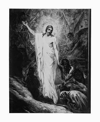 Christ Preaching To The Spirits In Prison C. 1910 Art Print by Daniel Hagerman