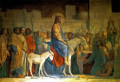 Flandrin Painting - Christ S Entry Into Jerusalem by MotionAge Designs