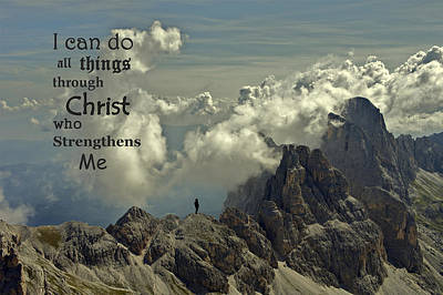 Christ Strengthens Me Art Print