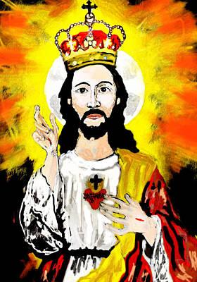 Christ The King Fresco Original by Paul Sutcliffe
