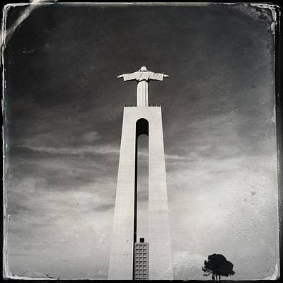 Christ The King Statue II Print by Marco Oliveira