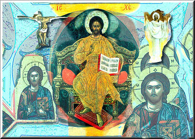 Digital Art - Christ The Pantocrator 2009 by Glenn Bautista