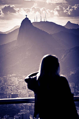 Photograph - Christ The Redeemer At Sunset by Celso Diniz