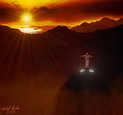 Christ The Redeemer Art Print by Michael Rucker