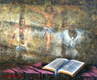Photograph - Christ The Word Of God by Gracia  Molloy