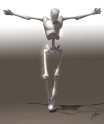 Muscular Digital Art - Christ Mechanical by Quim Abella