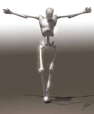 Christ Art Digital Art - Christ Mechanical by Quim Abella