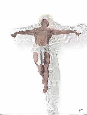 Muscular Digital Art - Christ Weightless by Quim Abella
