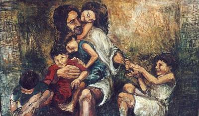 Come With Me Painting - Christ With Children by Christopher Santer