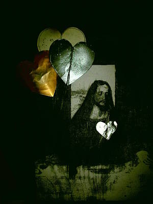 Christo Painting - Christ With Heart Baloons by Robert Cunningham