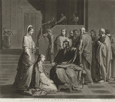 Martha Drawing - Christ With Martha And Mary, Charles Howard Hodges by Charles Howard Hodges And Evert Maaskamp