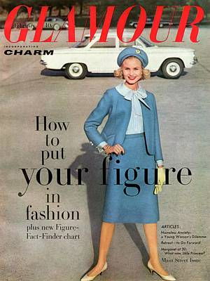 Christa Vogel On The Cover Of Glamour Art Print by Frances Mclaughlin-Gill