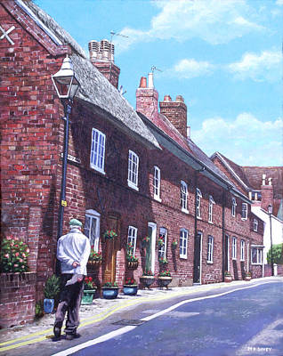 Christchurch Church Lane Print by Martin Davey