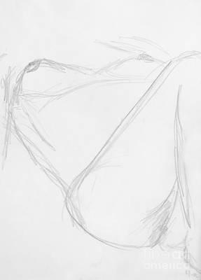 Hip Drawing - Christel II by Caroline Henkelius