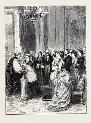 Buckingham Palace Drawing - Christening Of The Infant Son Of The Duke And Duchess by English School