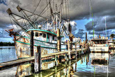 Christi Lynne At Billy's Seafood Art Print