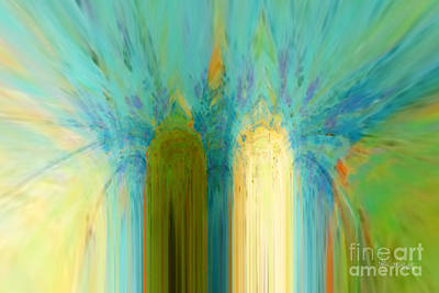 Abstract Painting - Christian Art- Angels Rejoicing. Luke 15 10 by Mark Lawrence