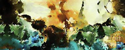 Religious Art Digital Art - Christian Art- Great Power And Glory. Mark 13 26 by Mark Lawrence