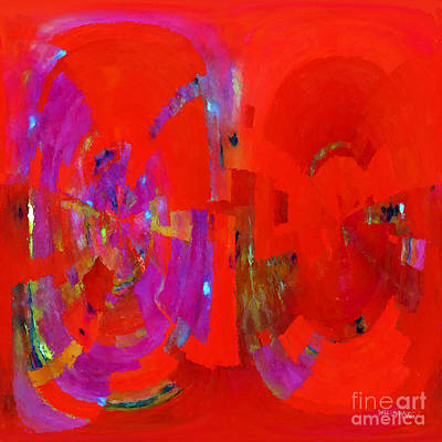 Worship God Painting - Christian Art- In Him. 2 Corinthians 5 21 by Mark Lawrence