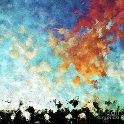 Message Art Painting - Christian Art- Shout With Joy. Psalm 100 1 by Mark Lawrence
