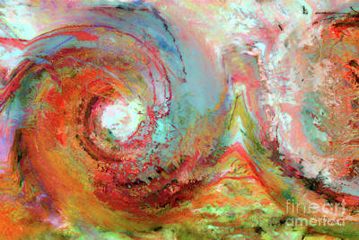 Marklawrencegallery.com Painting - Christian Art- The Beginning. Genesis 1 1 by Mark Lawrence