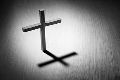 Religious Artist Photograph - Christian Cross And Shadow by Donald  Erickson