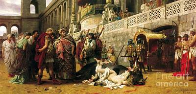 Christian Dirce In The Circus Of Nero Art Print by Pg Reproductions