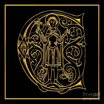 Crosses Digital Art - Christian Initial Letter C by Rose Santuci-Sofranko