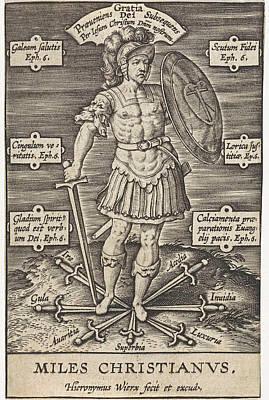 Deadly Drawing - Christian Knight, Hieronymus Wierix, Girolamo Olgiati by Hieronymus Wierix And Girolamo Olgiati