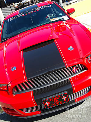 Photograph - Christian Mustang Muscle by Mark Spearman