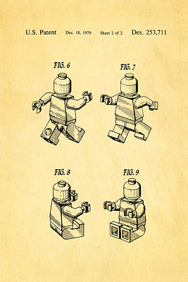 Christiansen Lego Figure 3 Patent Art 1979 Art Print by Ian Monk