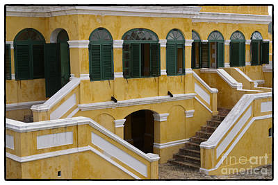 Christiansted National Historic Fort With Border Art Print by Iris Richardson