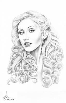 Famous Women Singers Drawing - Christina Aguilera by Murphy Elliott