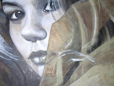Eye Brows Painting - Christina by Diane Pugh